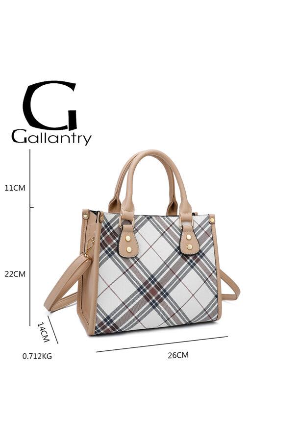 Gallantry neliela, rūtaina sieviešu soma
