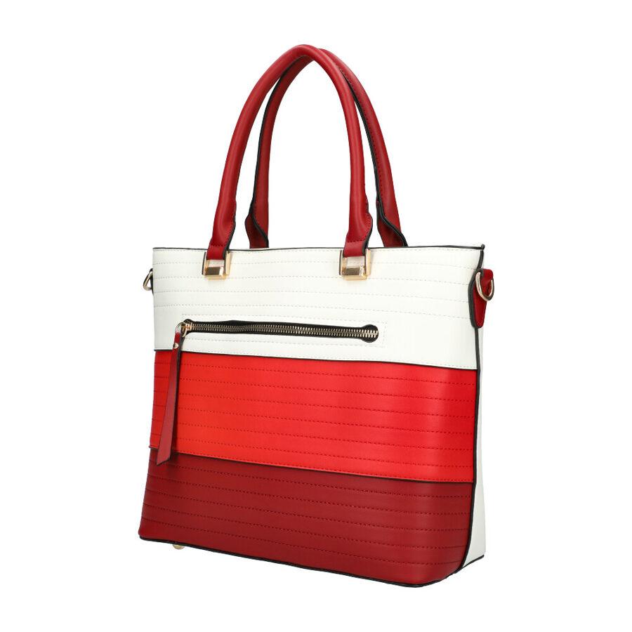Omnitrend sarkana ar baltu sieviešu soma