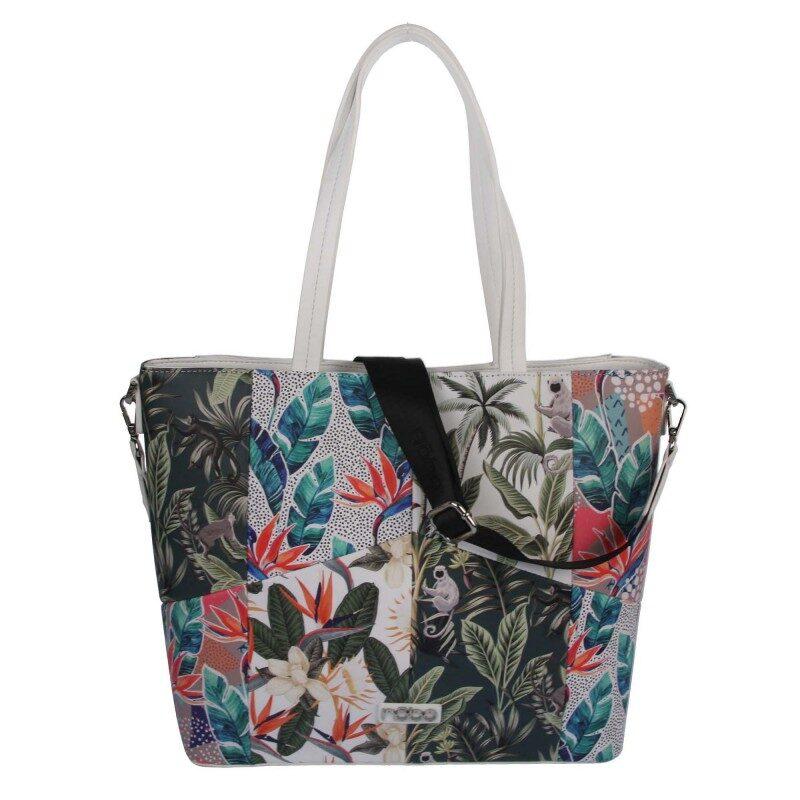 Nobo liela puķaina, krāsaina sieviešu soma