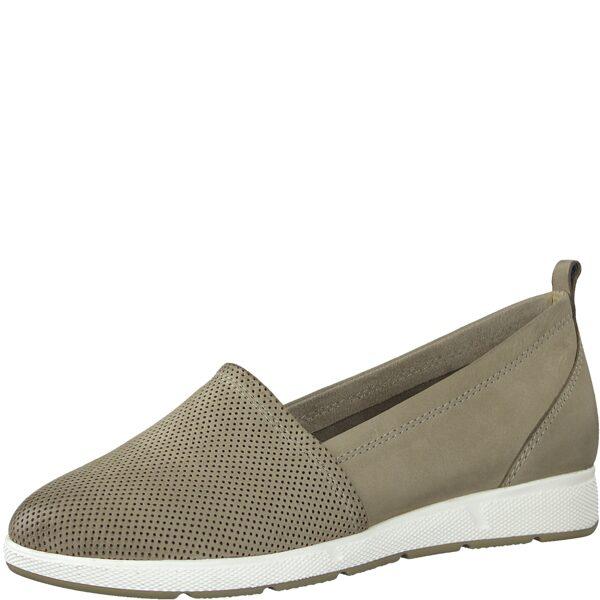 Marco Tozzi apavi, sieviešu bēšas ādas kurpes