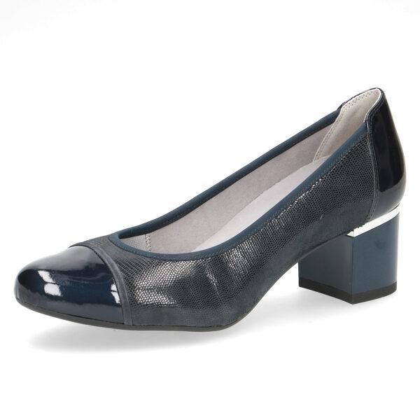 Caprice apavi, sieviešu zilas ādas kurpes