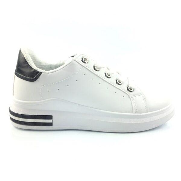 Sieviešu sneakers, baltas ar melnu brīvā laika apavi