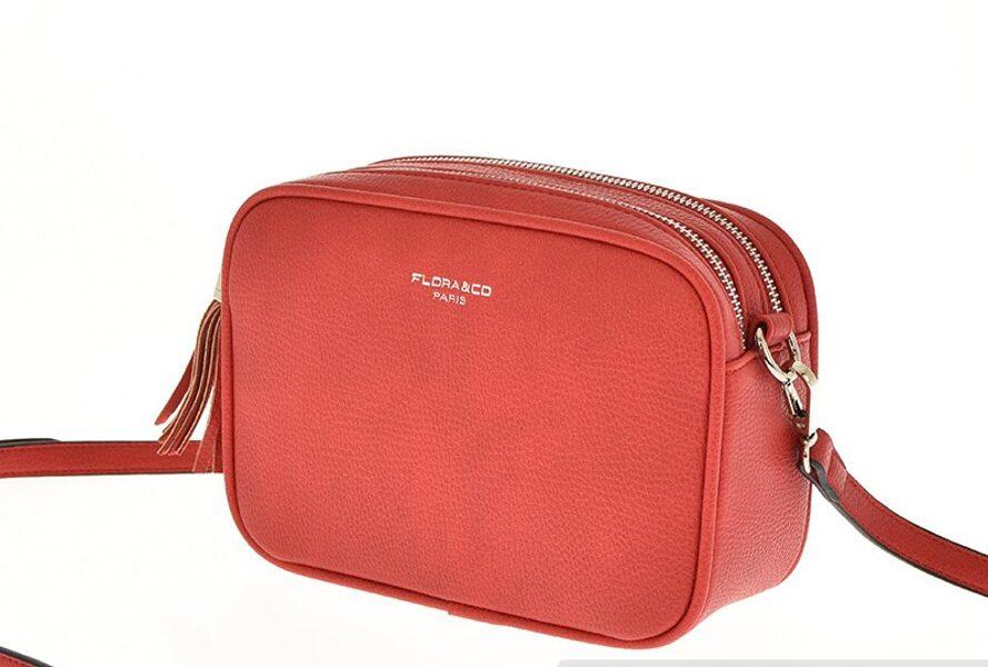 Flora&Co sarkana sieviešu plecu somiņa