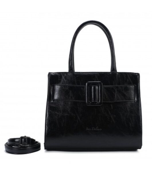 Ines DeLaure neliela , melna sieviešu soma