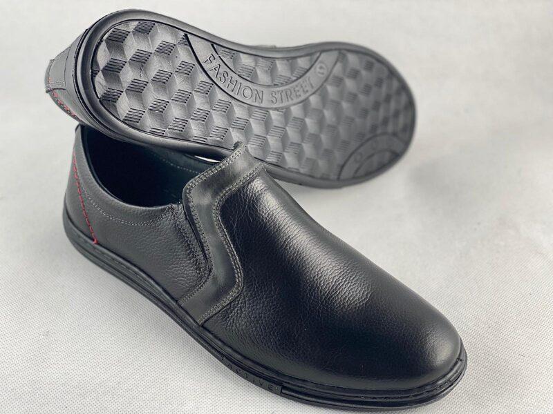 Mario Pala ādas apavi, melnas vīriešu kurpes
