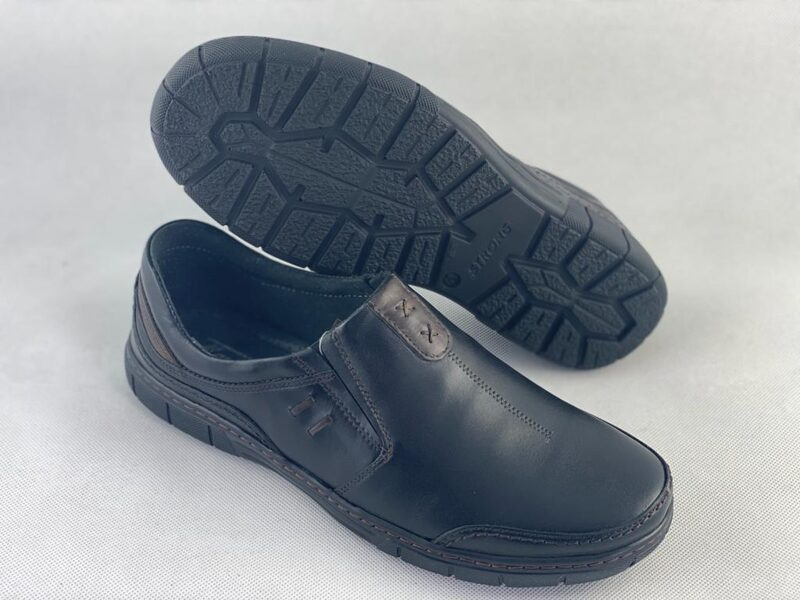 Marek P ādas apavi, melnas ar brūnu vīriešu kurpes