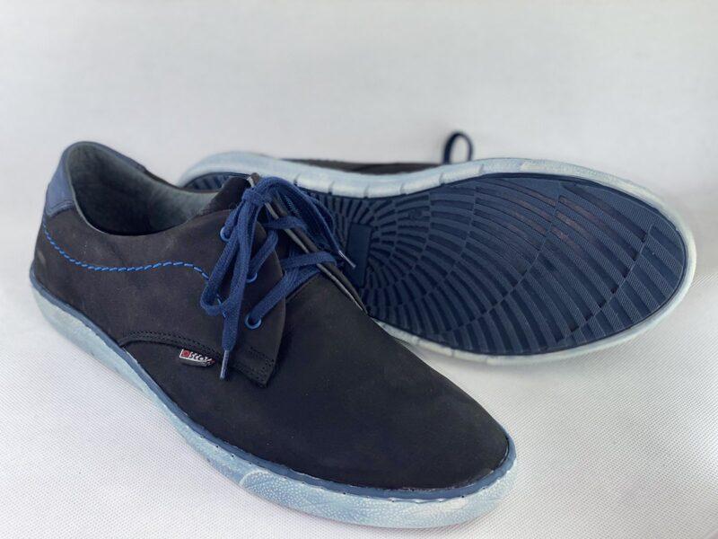 Oscar ādas apavi, zilas vīriešu kurpes