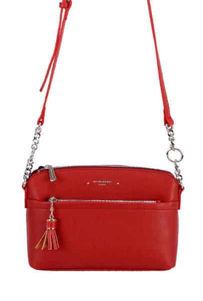 David Jones sarkana sieviešu plecu somiņa