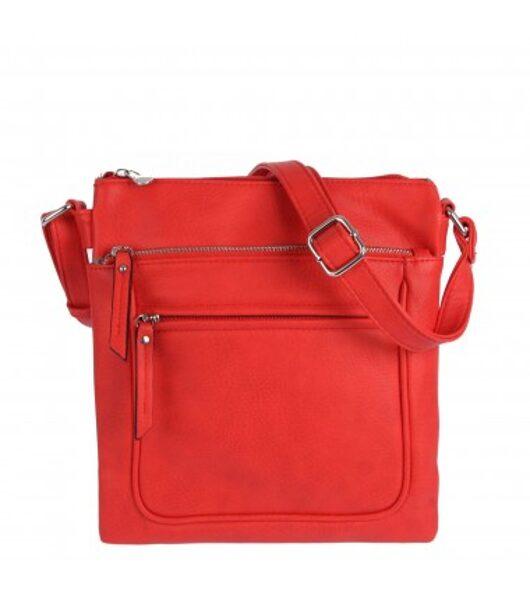 Erick style neliela,sarkana sieviešu plecu/ceļojuma soma