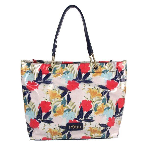 Nobo liela, puķaina, krāsaina sieviešu soma